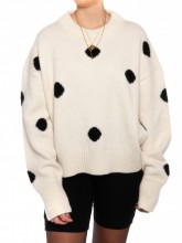 Maria pullover dots off white