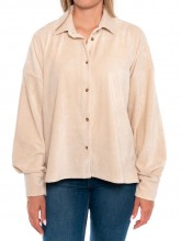 Egina babycord shirt off white