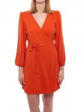 Fylpoo wrap dress apricot