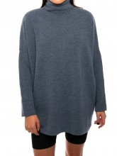 Bella pullover faded denim