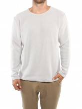 Makoto pullover white grey