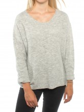 Mille pullover wht grey