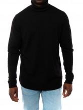 Aran pullover black