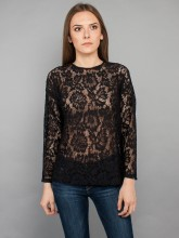 Nesa lace blouse black