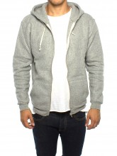 Kima zipper 162 grey mel men