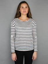 Dorrie longsleeve stripe white navy