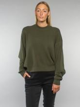 Fine pullover olive