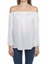 Pati off shoulder blouse white