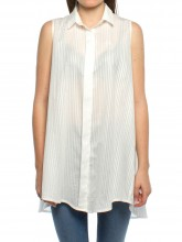 Nuria top striped white