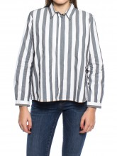 Ida blouse grey stripe