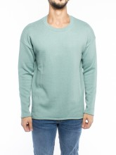 Njörd knit sweater blue green