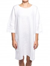 Oki linen dress white