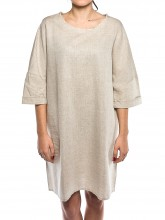 Oki linen dress beige