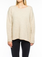 Mille knit pullover chalk