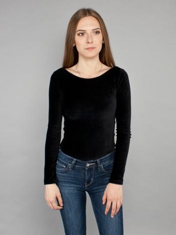 Helia velvet body black