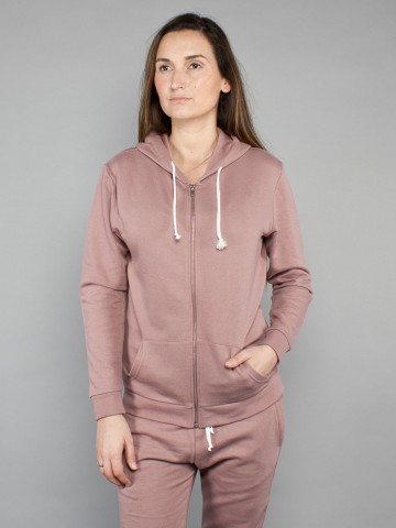 Kima zipper jacket dusty rose