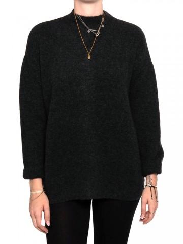 Fern pullover black washed