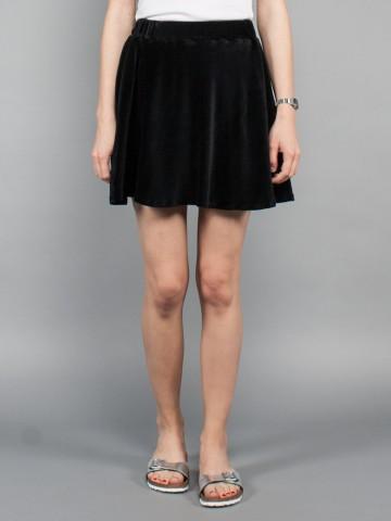 Eileen velvet skirt black