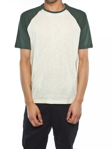 Paavo t-shirt beige/green