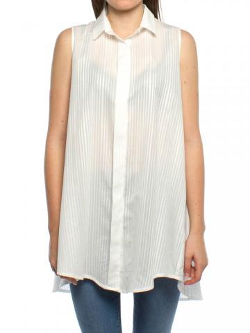 Nuria top striped white