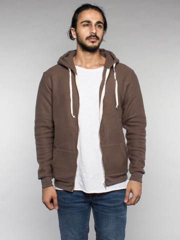 Kima zipper jacket 147 brown