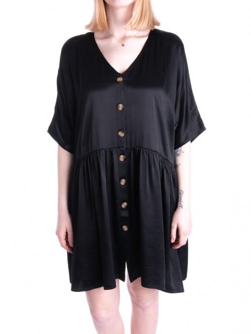 Davina dress shiny black