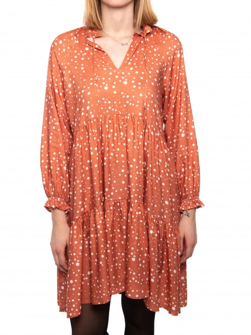 Cecilia dress orangeprint