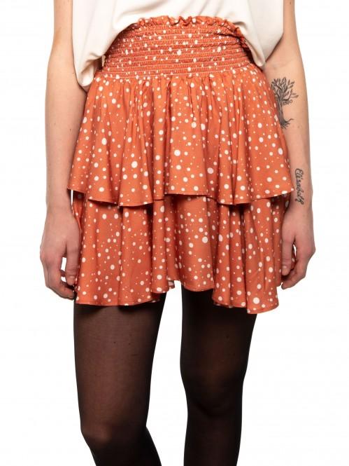 Corrie skirt orangeprint