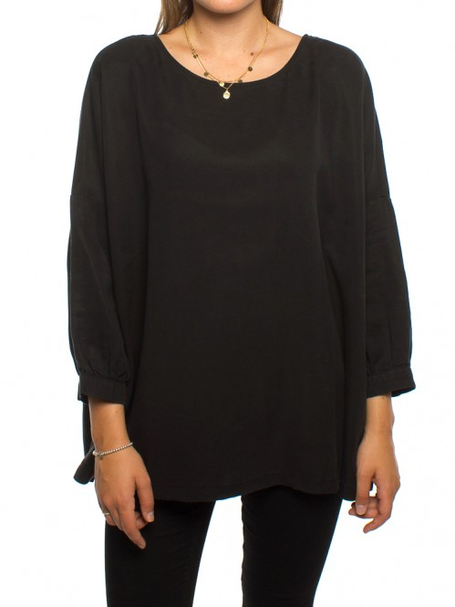 Roxana blouse blk washed