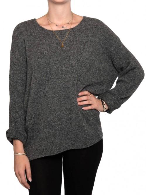 Mille pullover dk grey