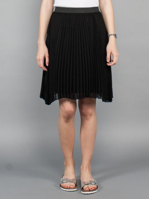 Milena plaid skirt black