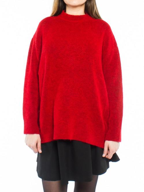 Fern pullover true red