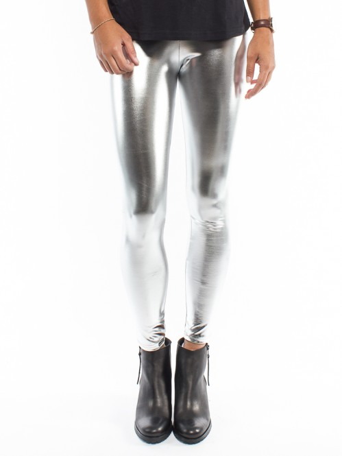 Melai leggings metallic silver