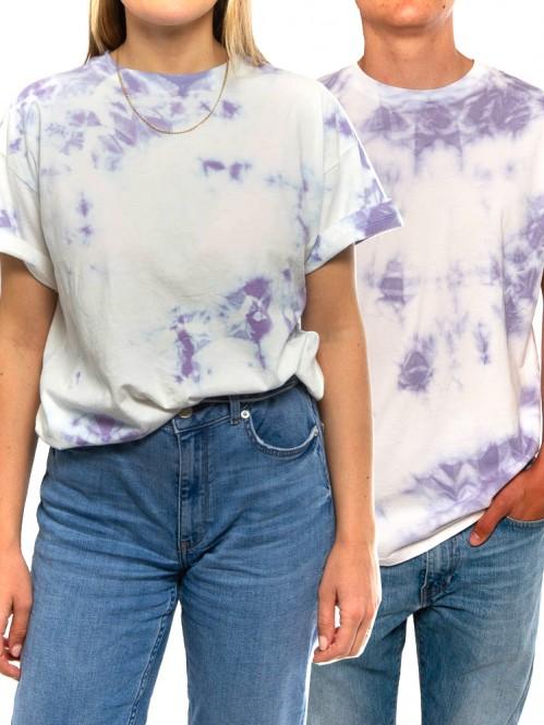 002 Unisex t-shirt batik flieder