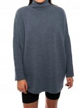 Bella pullover faded denim
