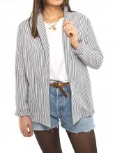 Tavia blazer stripe grey white