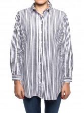 Marie stripe shirt white grey