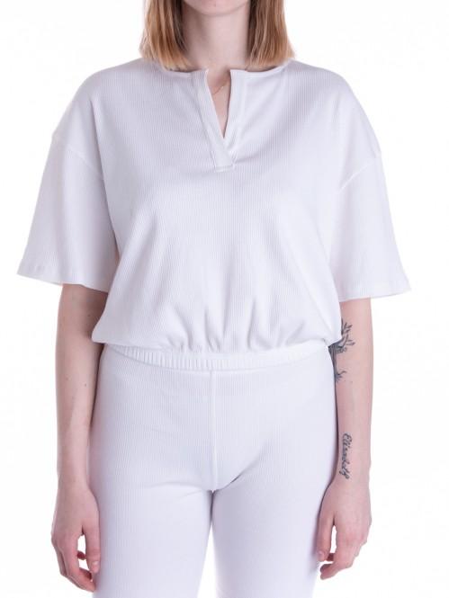 Rosa rippe shirt white