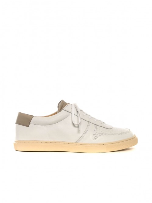 R18 sneaker white taupe